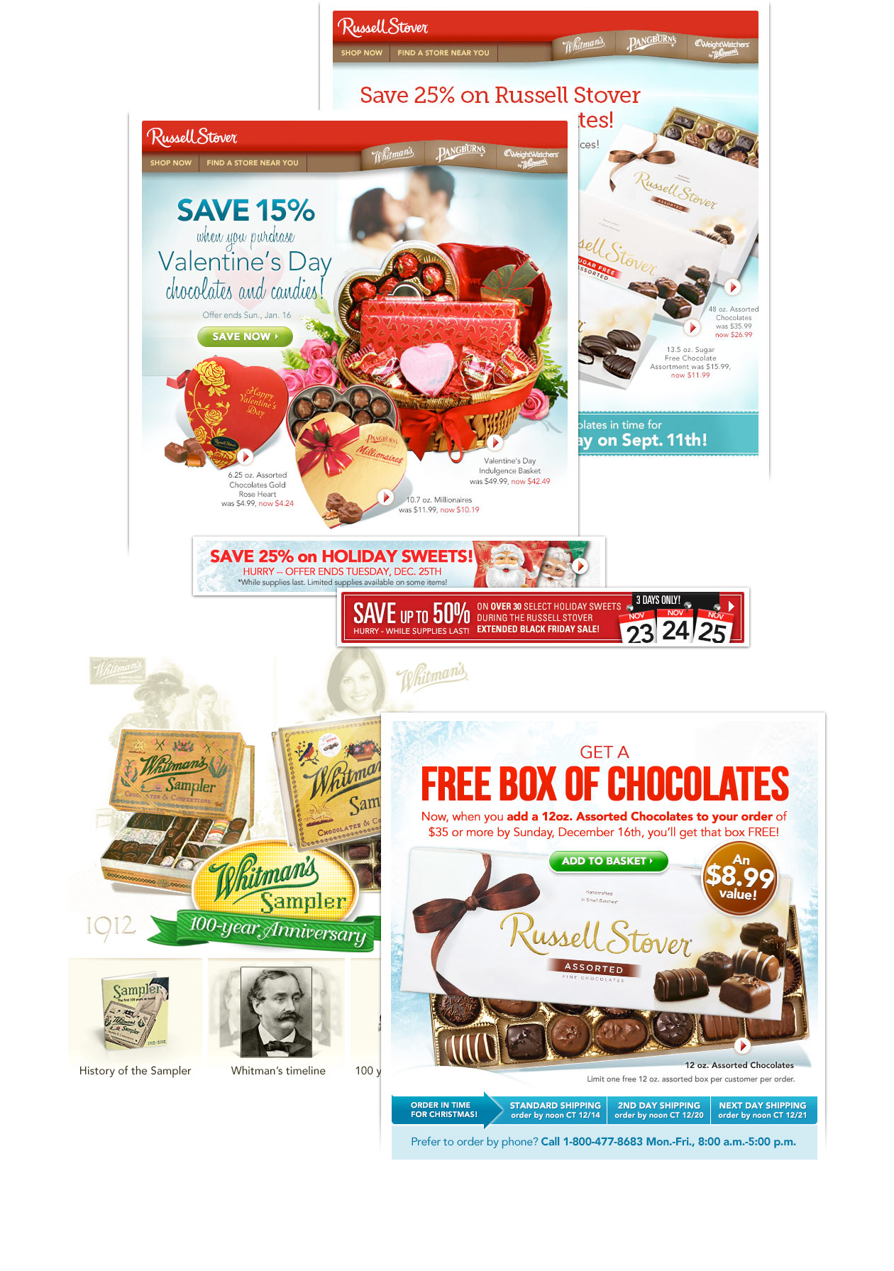 Russell Stover email and banner examples